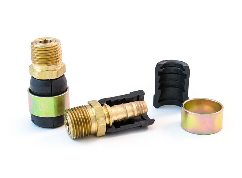 Calendar Sheet Rubber : Quick fix kit for ″ hose with fittings and brass