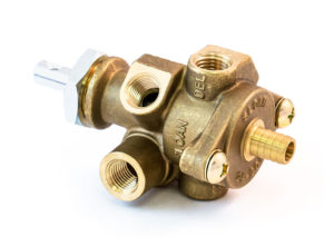 Tractor Trailer Park Valve with 2-Way Check Valve and Barbed Fitting