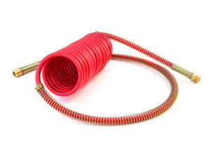 """MAXXValue Coiled Air – 15ft with 12"""" & 40"""" Leads, Red"""