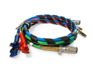 3-in-1 Wrap - 12ft Red & Blue Hose with Powder-Coated MAXXGrips