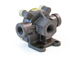 "Quick Release Valve for Air Ride Axles, 3/8"" Supply, 3/8""x3/8"" Delivery"