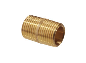 Close Pipe Nipple, Red Brass, 1-1/4""