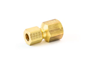 "Compression x Female Pipe Connector, 3/16""x1/8"""