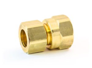 "Compression x Female Pipe Connector, 5/8""x3/8"""