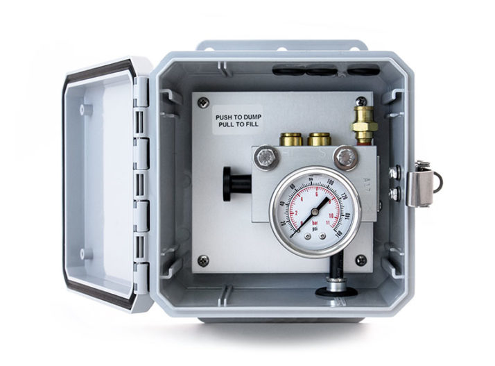 Suspension Dump Control Box with Gauge and Reset   Tramec Sloan