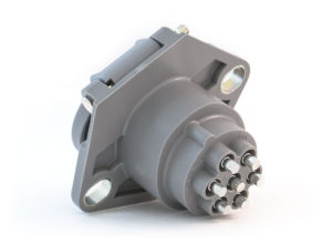 Small Style Two Hole Receptacle, Push-On Terminals, Solid Pin