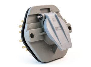 30-Pin Nylon 7-Way Receptacle, Split Pin