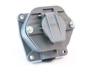 "7-Way Receptacle, Solid Pin, 30A Circuit Breakers, 2"" Box"