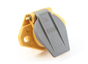 ISO Style Two Hole Receptacle, 180° Connection, Solid Pin