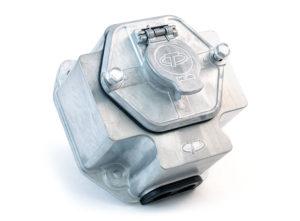 "7-Way Zinc Receptacle, Solid Pin, 15A Circuit Breakers, 3"" Box"