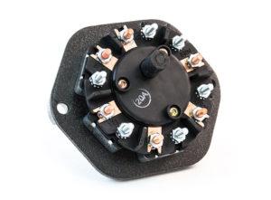 7-Way Zinc Receptacle, Solid Pin, 20A Circuit Breakers