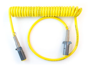"7-Way ISO Cable - 15ft, Coiled, 12"" & 48"" Leads"