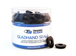 Gladhand Seal Retail Bucket Display - Black Rubber Seals
