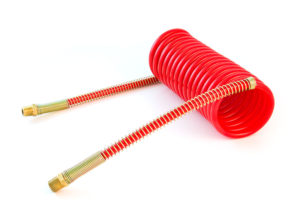 """MAXXValue Coiled Air – 15ft with 12"""" Leads, Red"""