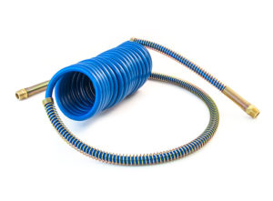 """MAXXValue Coiled Air – 15ft with 12"""" & 40"""" Leads, Blue"""