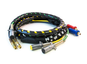 4-in-1 Wrap – 12ft Power/Air Lines with Dura-Grip, ABS & Yellow ISO Cable
