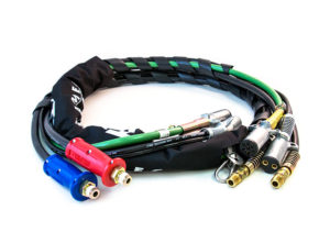 4-in-1 Wrap – 12ft Power/Air Lines with Dura-Grip, ABS & Dual Pole Cable