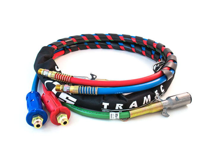 3-in-1 Wrap - 12ft Red & Blue Hose with Dura-Grips