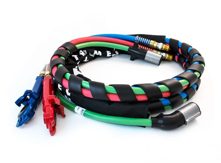 3 In 1 Wrap 15ft Red Amp Blue Hose With Powder Coated