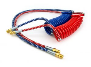 Red//Blue Coiled Airline Set Sloan//Tramec 15/' Coiled  Lead